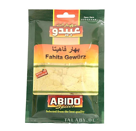 Especias Fahita Abido 50g